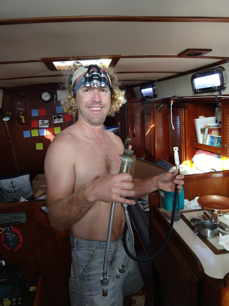 The Galley Faucet Caper (boat work in paradise)